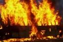 ВКузбассе сгорел пассажирский автобус