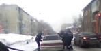 ВКемеровской области, уходя отпогони, нарушитель протаранил «Jaguar»