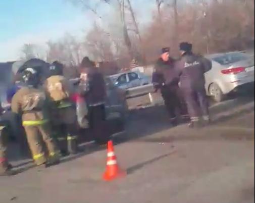 Встолкновении 2-х Кия пострадали люди— ДТП вКузбассе