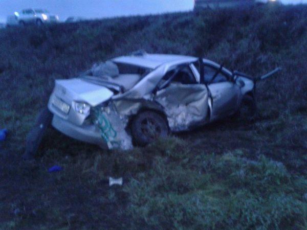 Два человека итри пострадали вДТП 2-х иномарок накузбасской трассе
