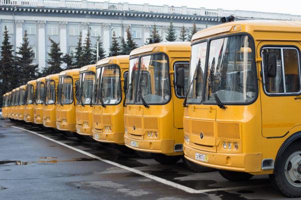 Вкузбасские образовательные заведения поступили 52 новых школьных автобуса
