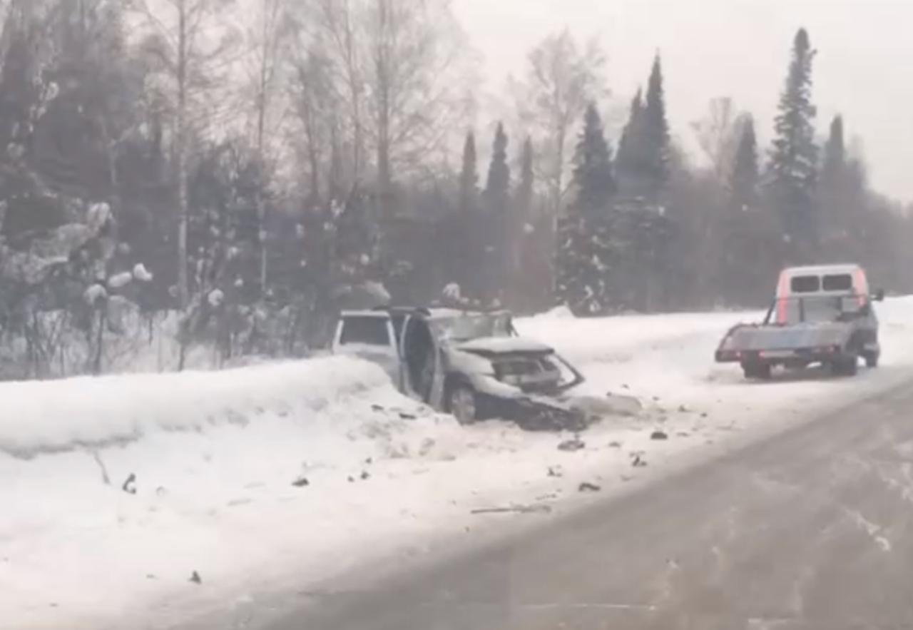 В ДТП на трассе Кемерово – Анжеро-Судженск погиб один человек и трое пострадали