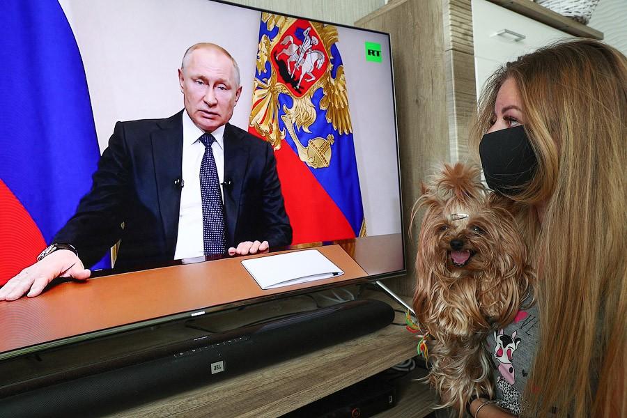 Главные моменты в обращении В.В. Путина по поводу коронавируса