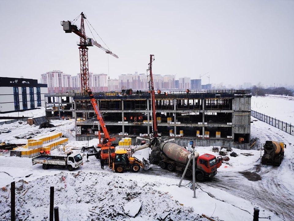 Строится вторая очередь кадетского училища в Кемерово