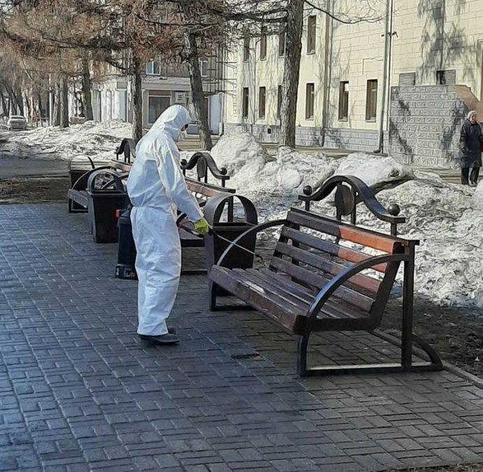 В Кемерово проходит весенняя уборка улиц